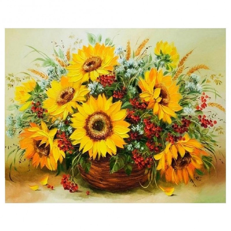 Sunflower - Full Round Di...